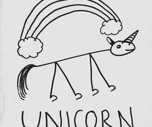 unicorn, rainbow, and draw image