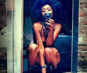 Afro, Beautiful Girls, and beautiful hair image