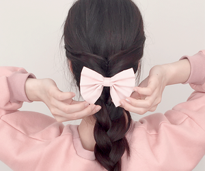 hair, korean, and style image
