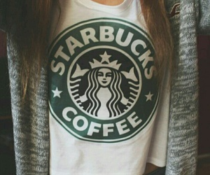 clothes, coffe, and starbucks image