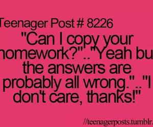 homework, teenager, and funny image