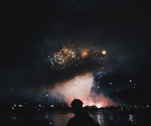 night, fireworks, and sky image