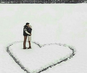 love, couple, and heart image