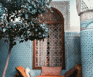 blue, morocco, and architecture image