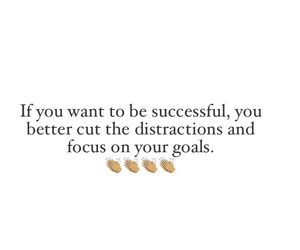 focus, goals, and success image