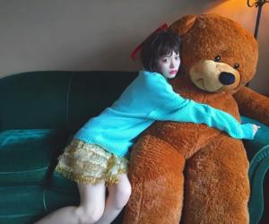 bear, girl, and japanse image