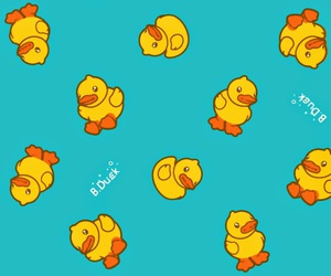 blue, duck, and yellow image