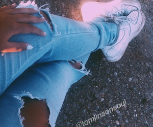 air force, beauty, and jeans image