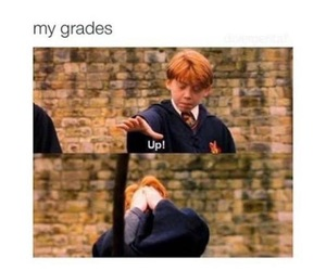 harry potter, funny, and grades image