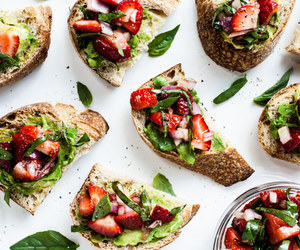avocado, bread, and fit image