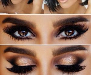 eyes, girl, and makeup image