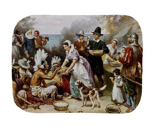 old fashioned, native americans, and happy thanksgiving image