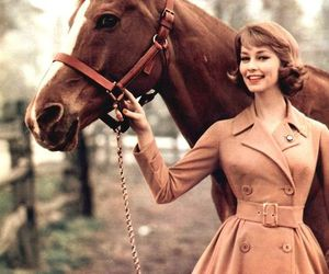 horse, vintage, and 1950s image