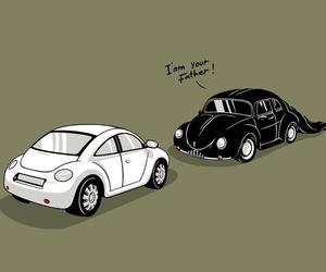 darth vader, fusca, and new beattle image