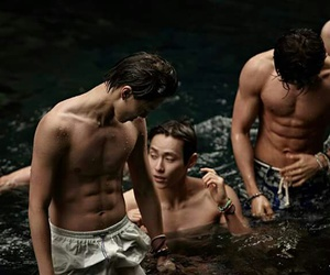 abs, handsome, and wenhan image