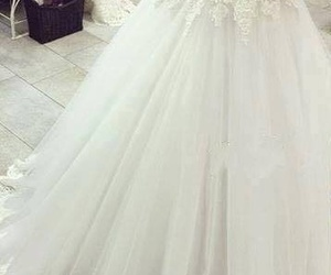 dress, white, and weding image