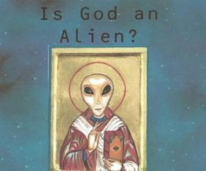 alien and god image