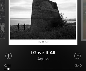 human, aquilo, and i gave it all image