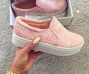 shoes, pink, and nails image