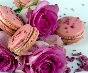 food, flowers, and rose image