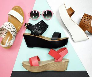 black wedges, platform wedges, and white wedges image