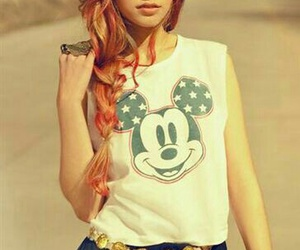 girl, hair, and mickey image