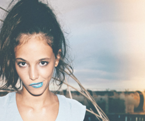 girl, blue, and lips image