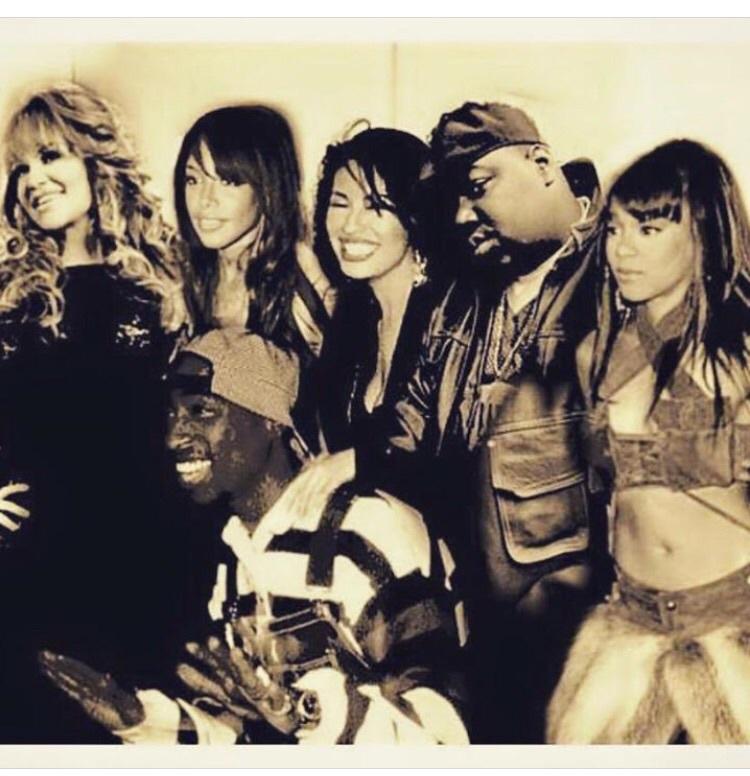 aaliyah, tupac, and biggie image