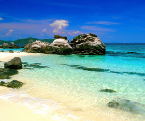 beach, thailand, and blue image