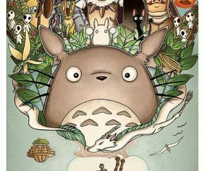 totoro, studio ghibli, and anime image