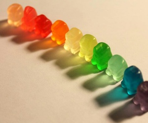 gummy bears, rainbow, and gummy image