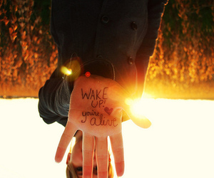 wake up, alive, and heart image