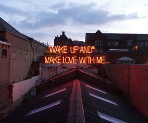 love, wake up, and quotes image