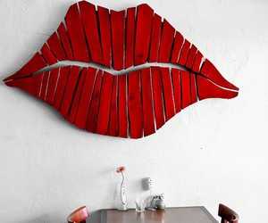 lips, red, and diy image