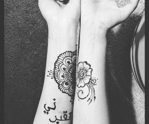 arabic, quotes, and henna image