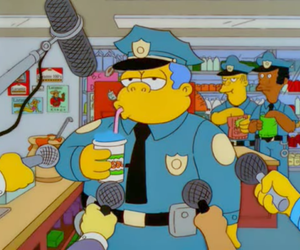 police and simpsons image