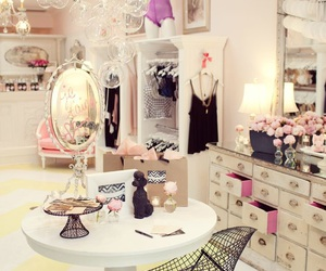 girly, room, and closet image