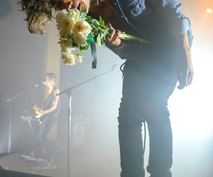 the 1975, matty healy, and flowers image