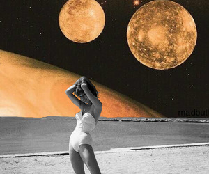 art, Collage, and moon image