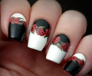 nails and rose image