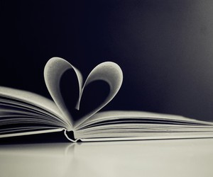 blog, book, and heart image