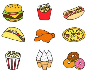 food, pizza, and tacos image