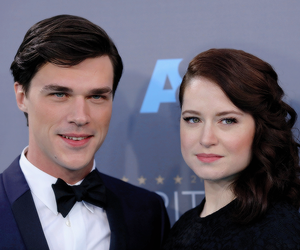 couple, finn wittrock, and event image