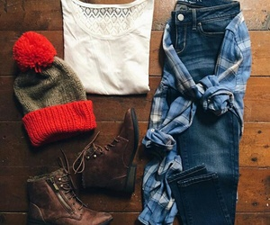 boots, jean, and cold image