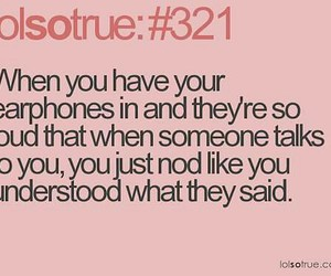 lol, earphones, and funny image