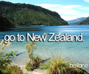 new zealand, travel, and bucket list image