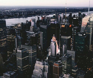 city, new york, and building image