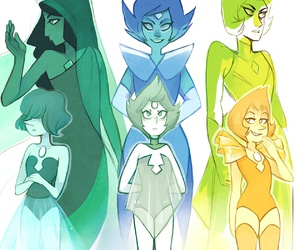 steven universe, pearls, and blue pearl image