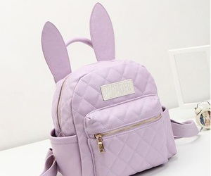 bag, bunny, and purple image