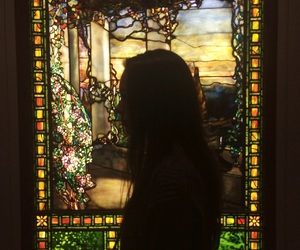 art, girl, and silhouette image